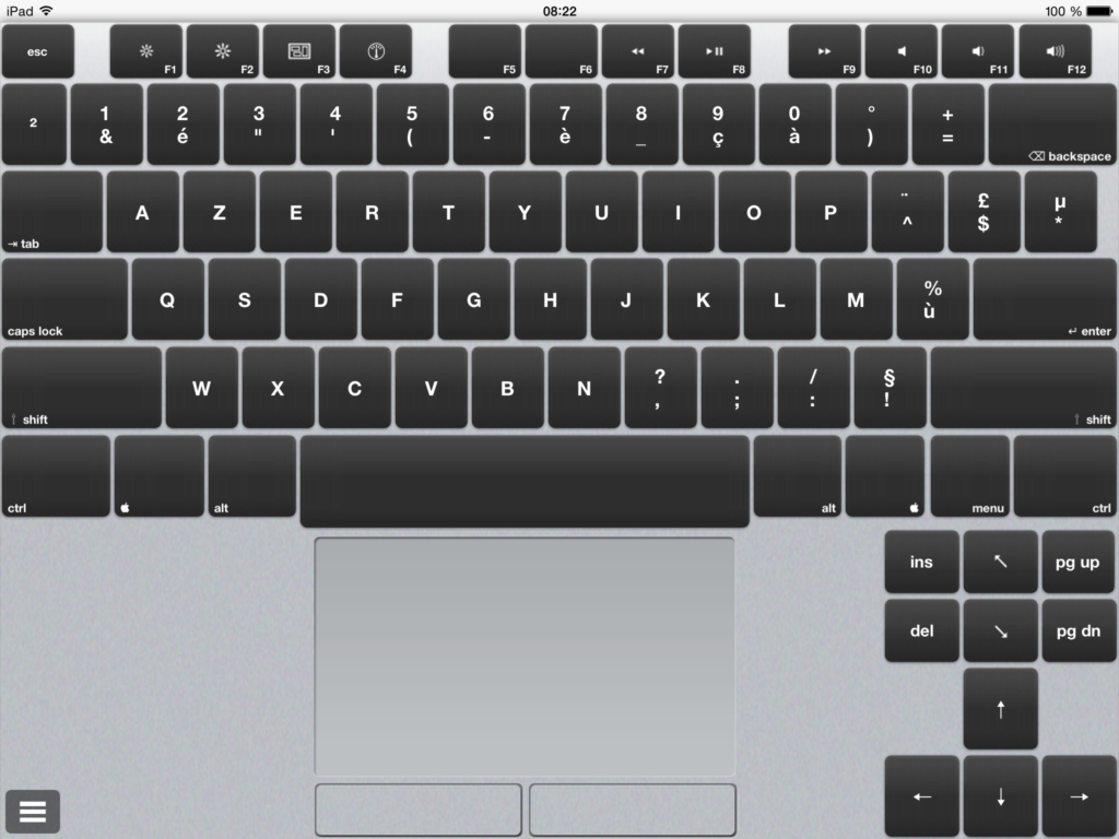 Air KeyBoard clavier ipad azerty