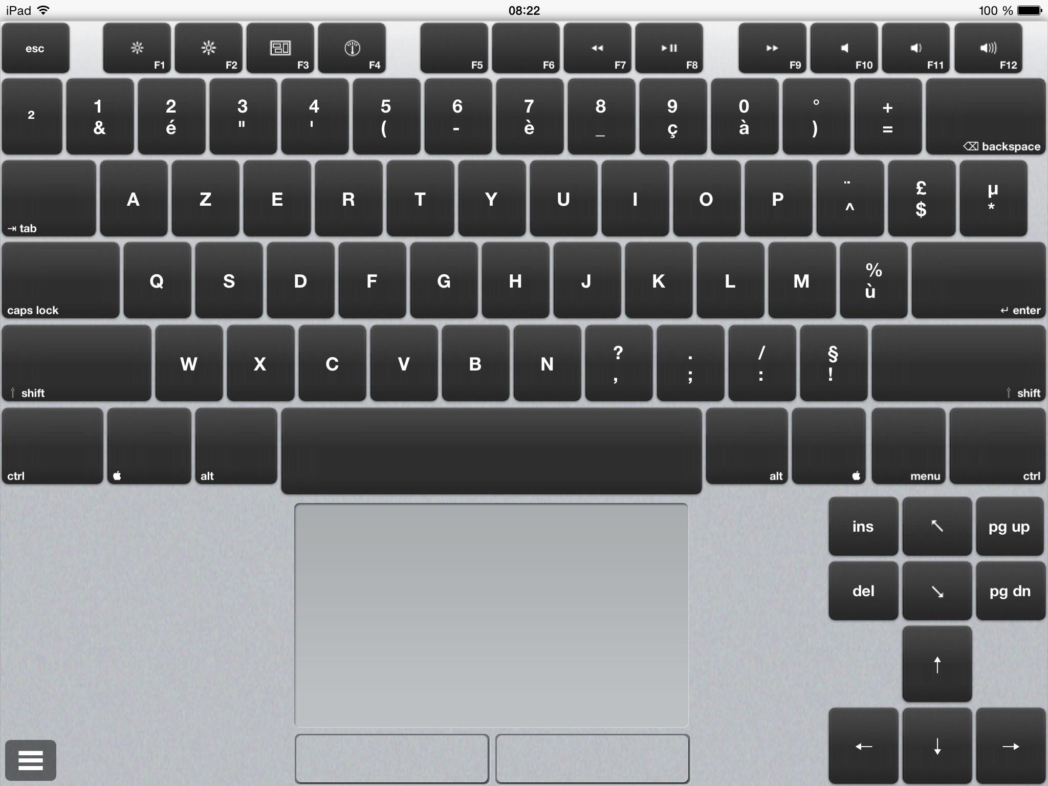 air keyboard transformer son ipad en clavier macplanete. Black Bedroom Furniture Sets. Home Design Ideas