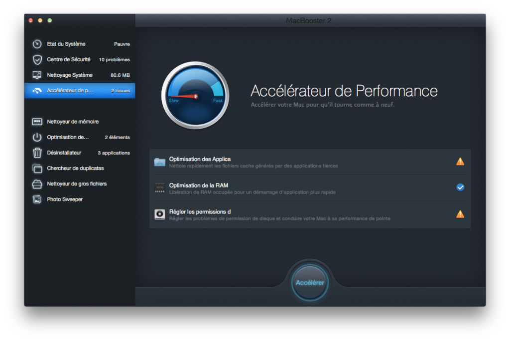 accelerer yosemite accelerateur de performances
