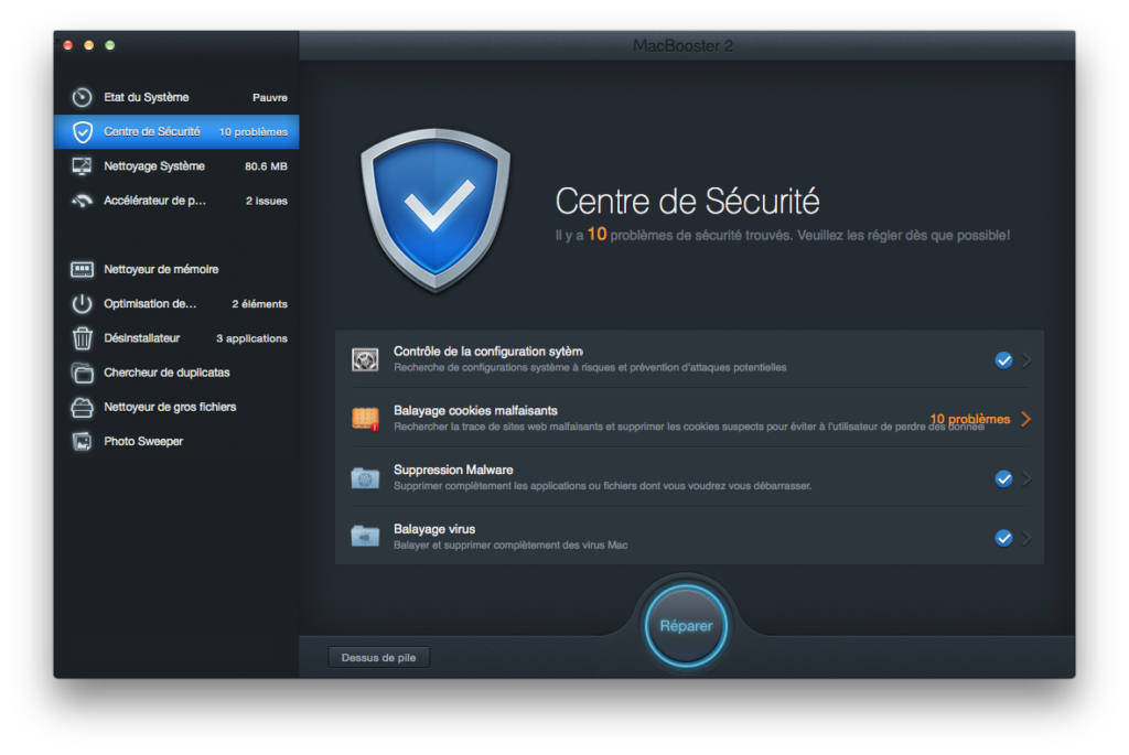 accelerer yosemite centre de securite