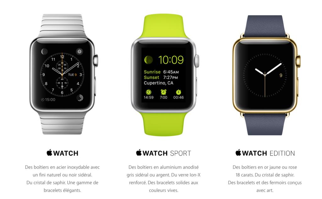 apple watch 3 montres