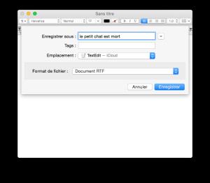 icloud drive sauver document