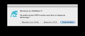 Mac OS X Yosemite - installer yosemite cle usb