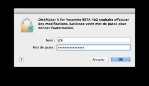 os x yosemite - installer yosemite mot de passe