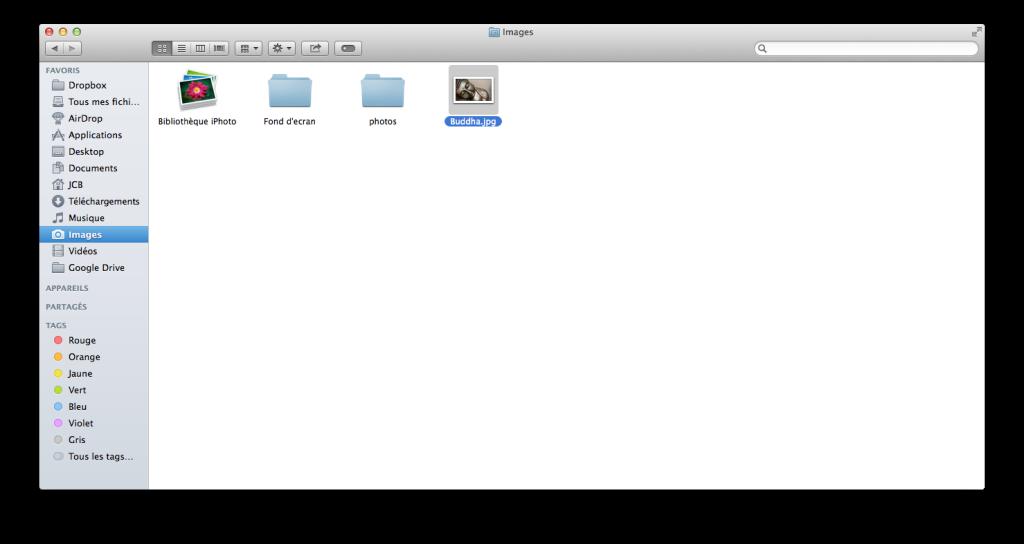 redimensionner une image sur mac Finder