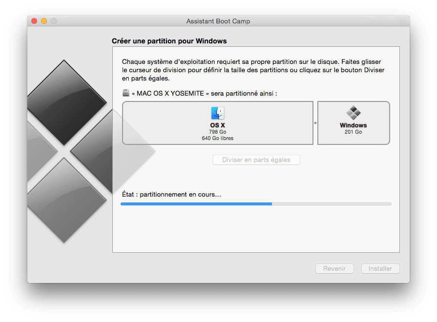 dualt boot mac windows partitionnement
