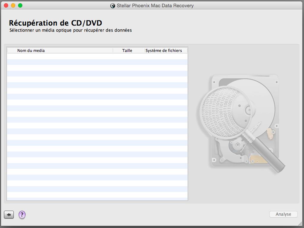 fichier effacé par erreur sur Mac scanner cd