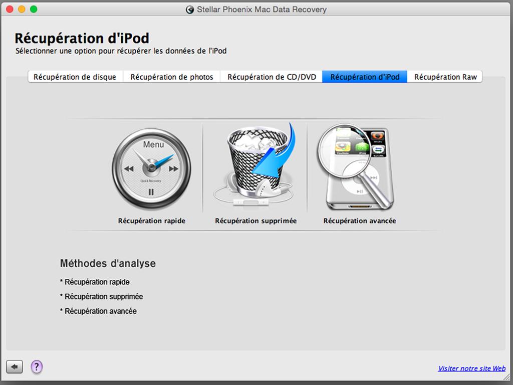 fichier effacé par erreur sur Mac ipod