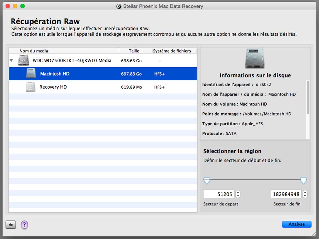 fichier effacé par erreur sur Mac recuperation raw