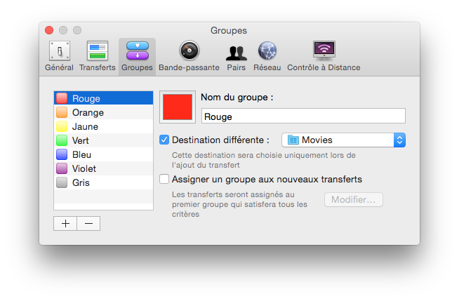transmission yosemite mac groupes