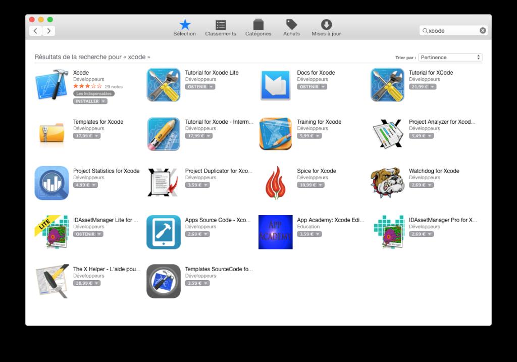Xcode Command Line Tools Yosemite appstore