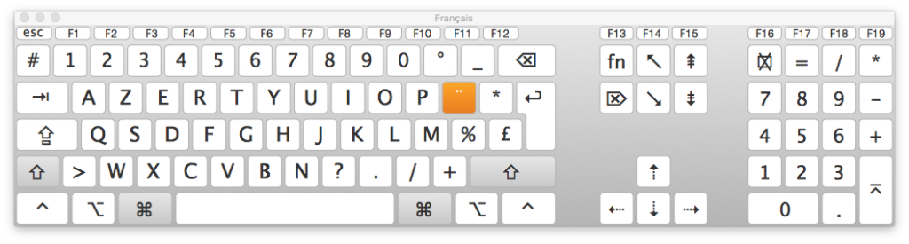 clavier virtuel yosemite afficher