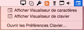 clavier virtuel yosemite barre de menus
