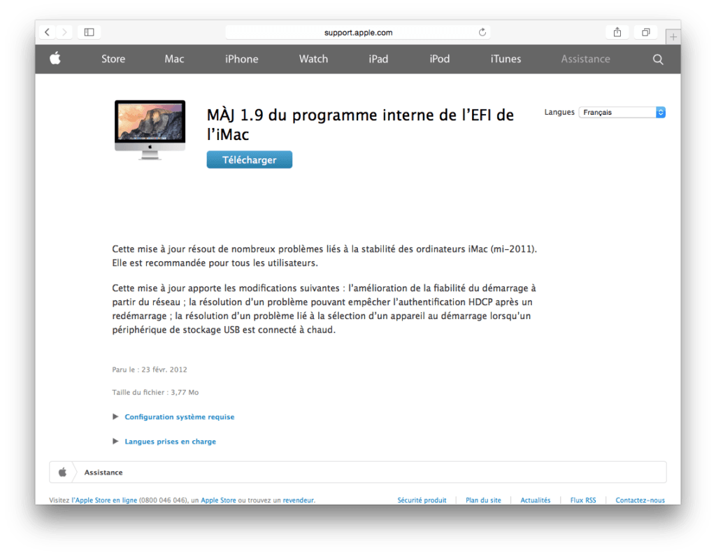 firmware yosemite 1.9 mac