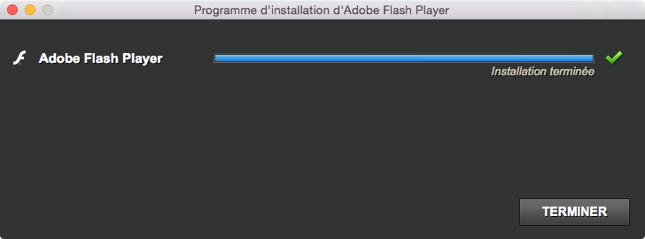 flash yosemite installation complete