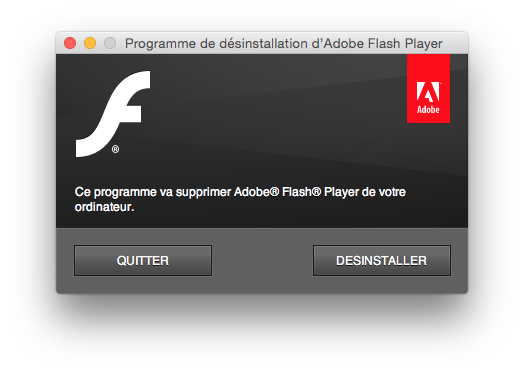 flash yosemite mac uninstall