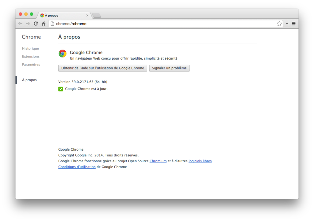 yosemite chrome 64 bits