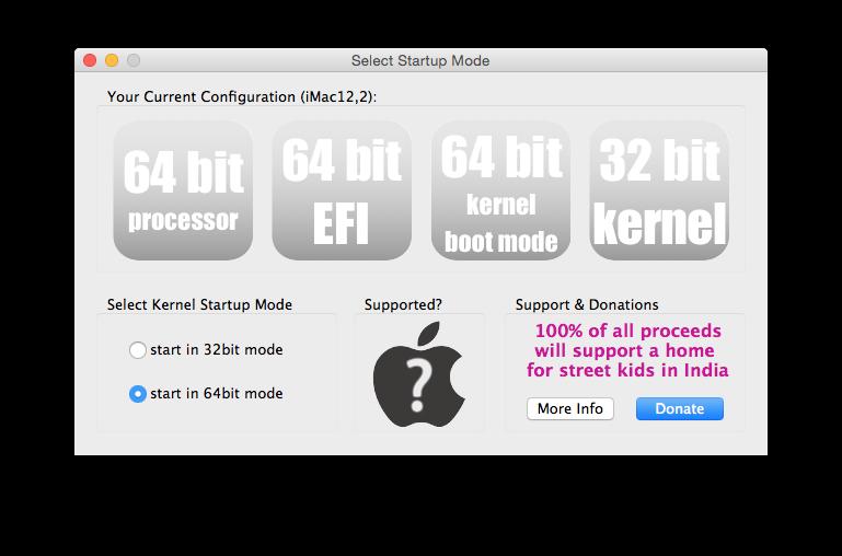 Yosemite en 64 bits noyau yosemite kernel 64 bit