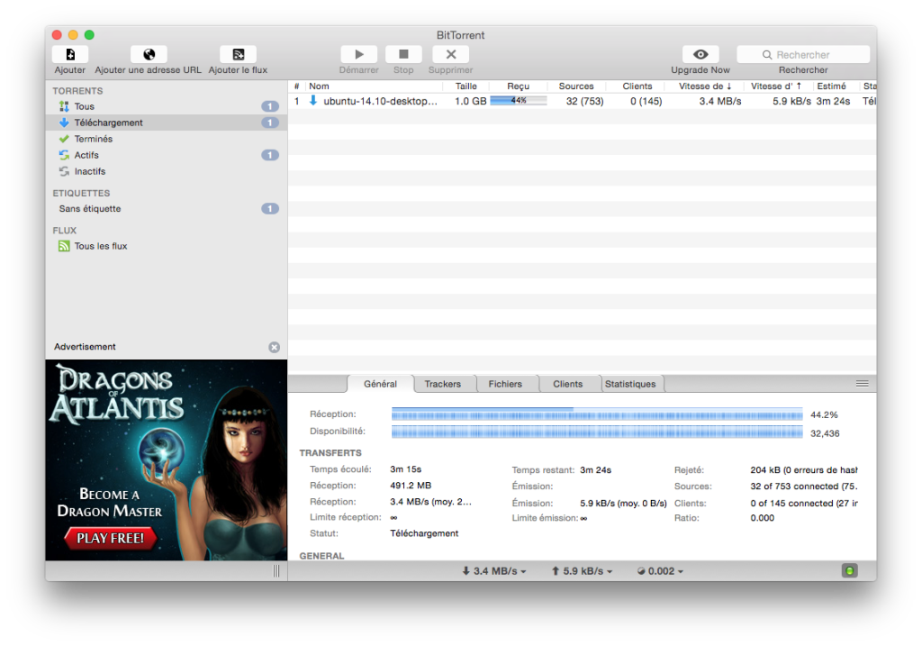 bittorrent yosemite configurer