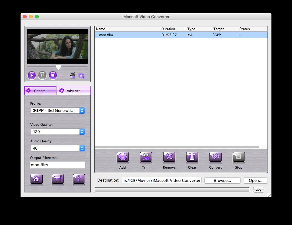 convertir une video sur yosemite ajouter film