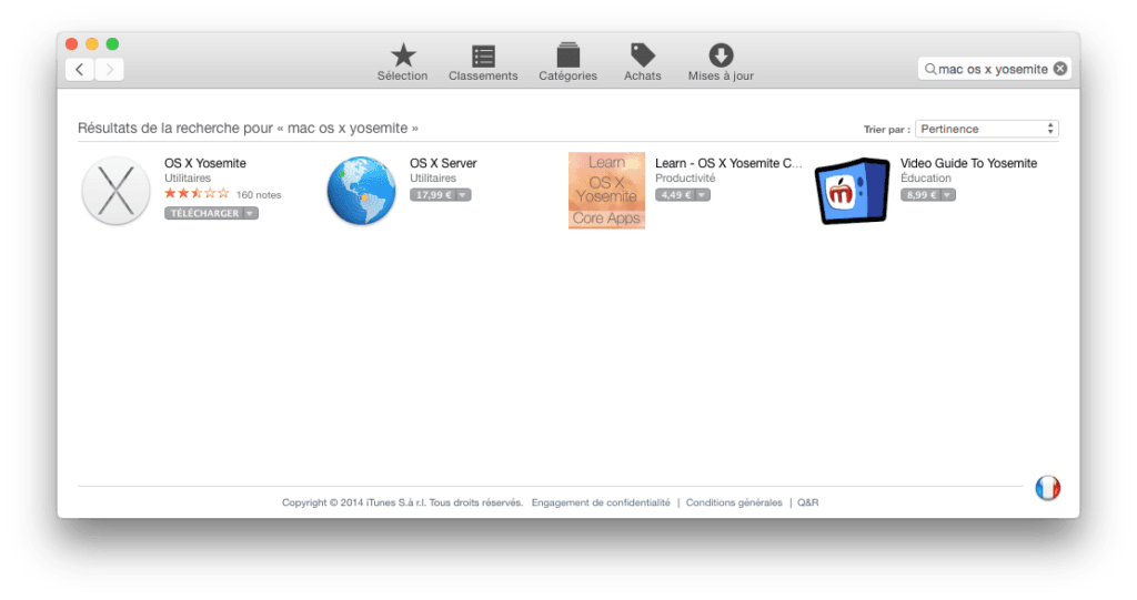 installer Yosemite sur cle USB telecharger