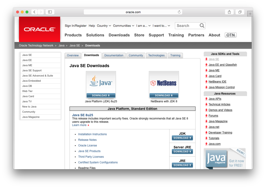 java yosemite JRE JDK
