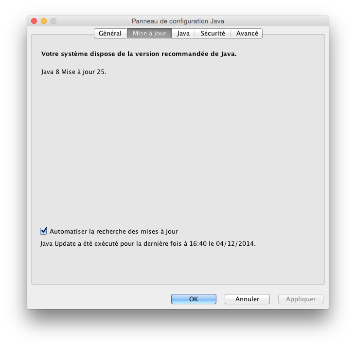 java yosemite verifier installation