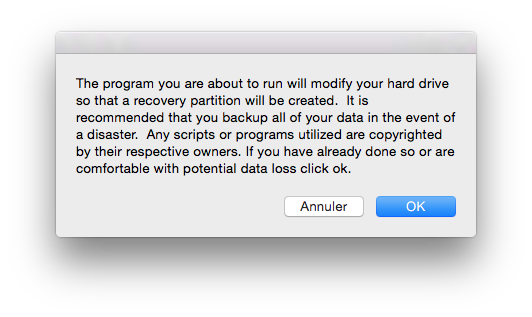 yosemite recovery creation