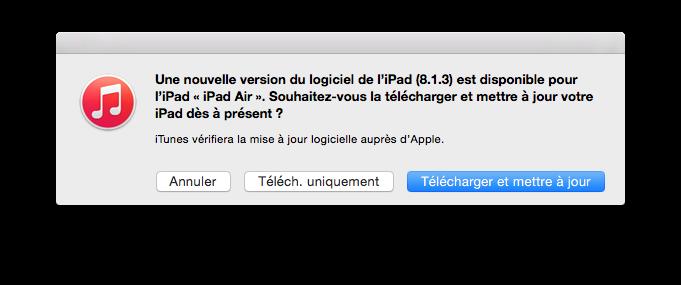 ios 8.1.3 telecharger