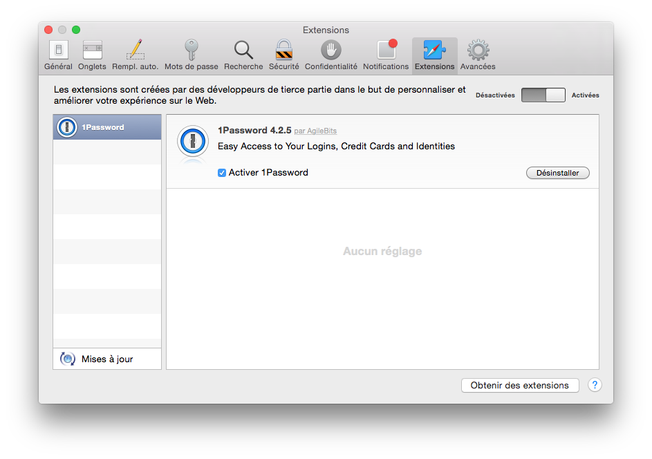 safari yosemite extensions