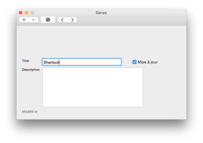 tv series mac ajouter une serie
