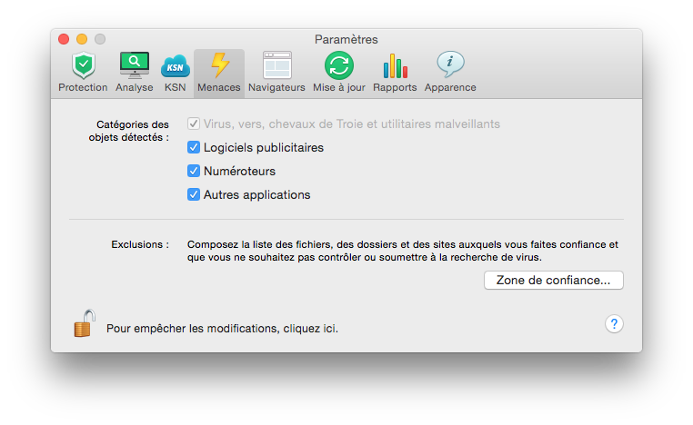 Antivirus Yosemite menaces
