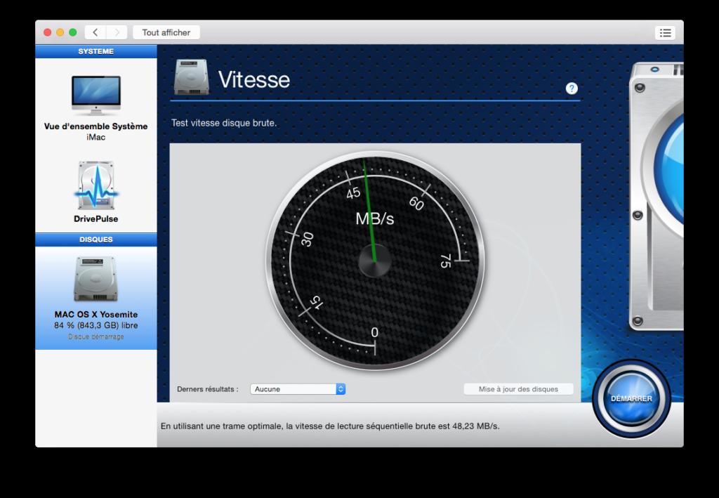 optimiser yosemite vitesse disque