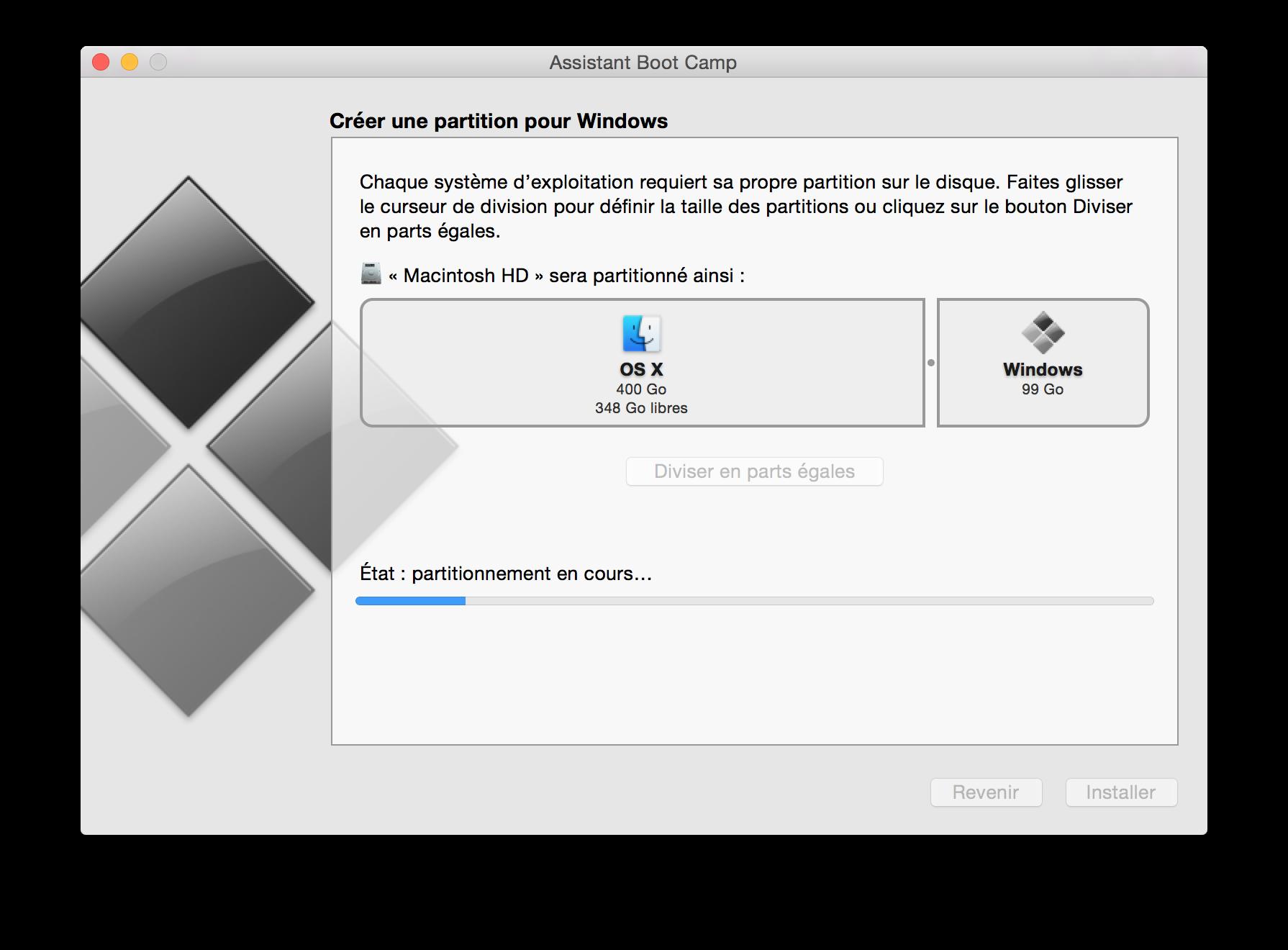 installer windows sur un macbook pro retina