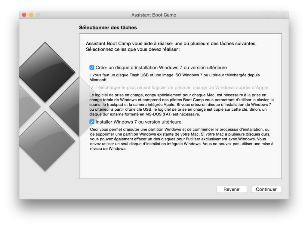Installer Windows sur un MacBook disque installation