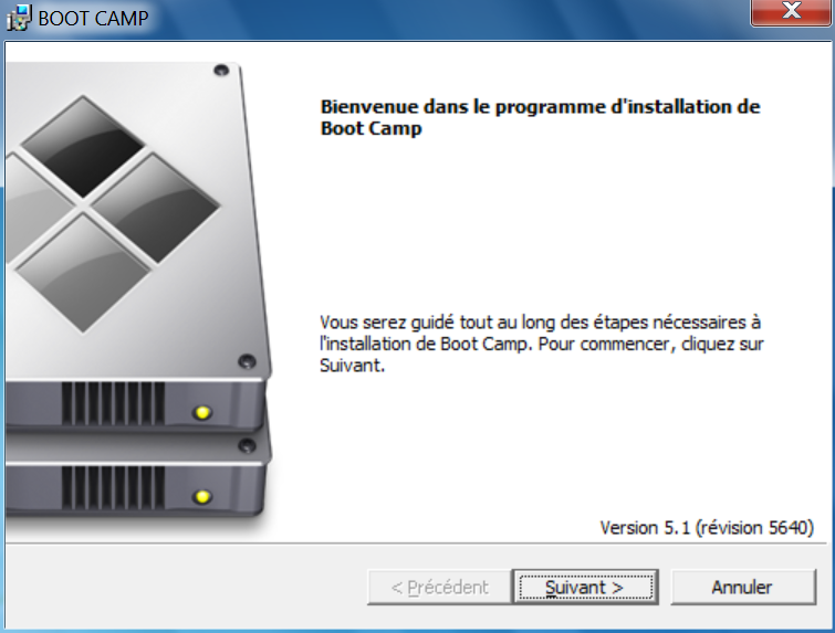 Installer Windows sur un MacBook pilotes Bootcamp