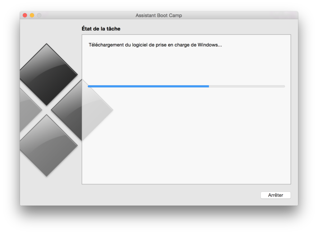 Installer Windows sur un MacBook telechargement du logiciel de prise en charge de windows