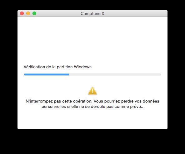 partition mac operation en cours