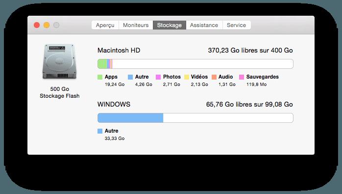 partition mac redimensionner sur macbook