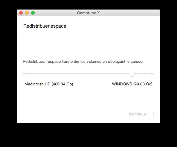partition mac redistribuer espace
