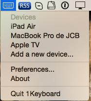 1keyboard barre de menus switcher