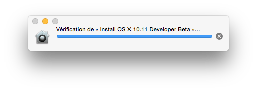 installer el capitan verification