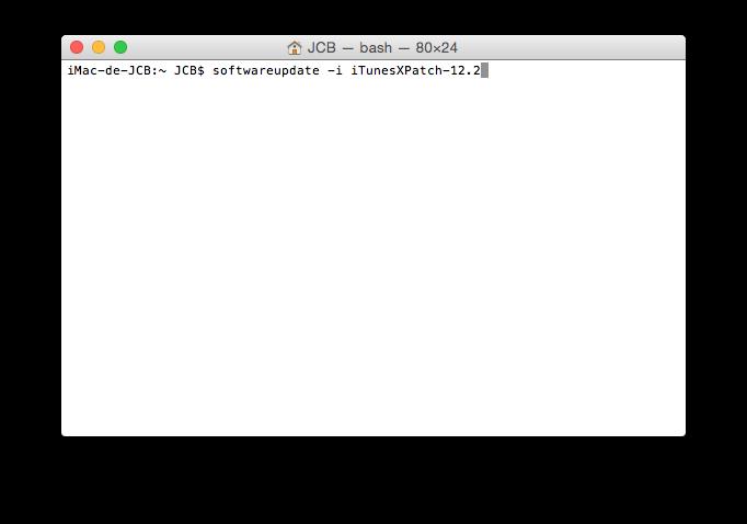 App Store softwareupdate -i iTunesXPatch-12.2