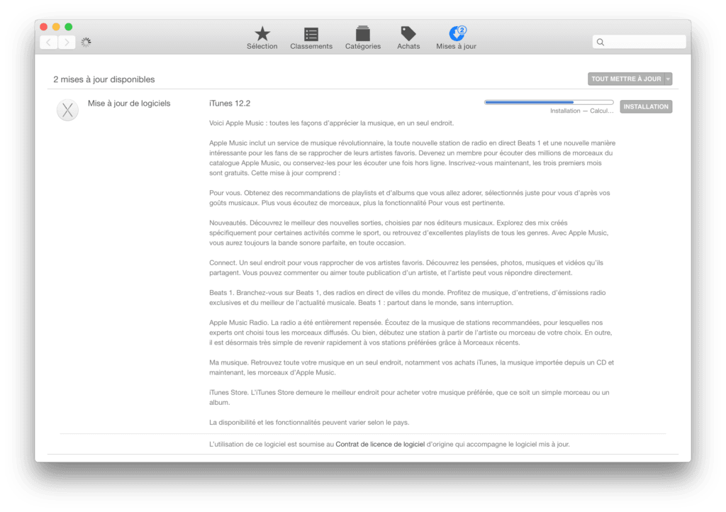 Apple Mise a jour itunes 12.2