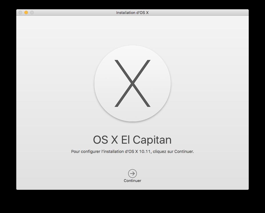 Dual boot El Capitan installer mac os x 10.11