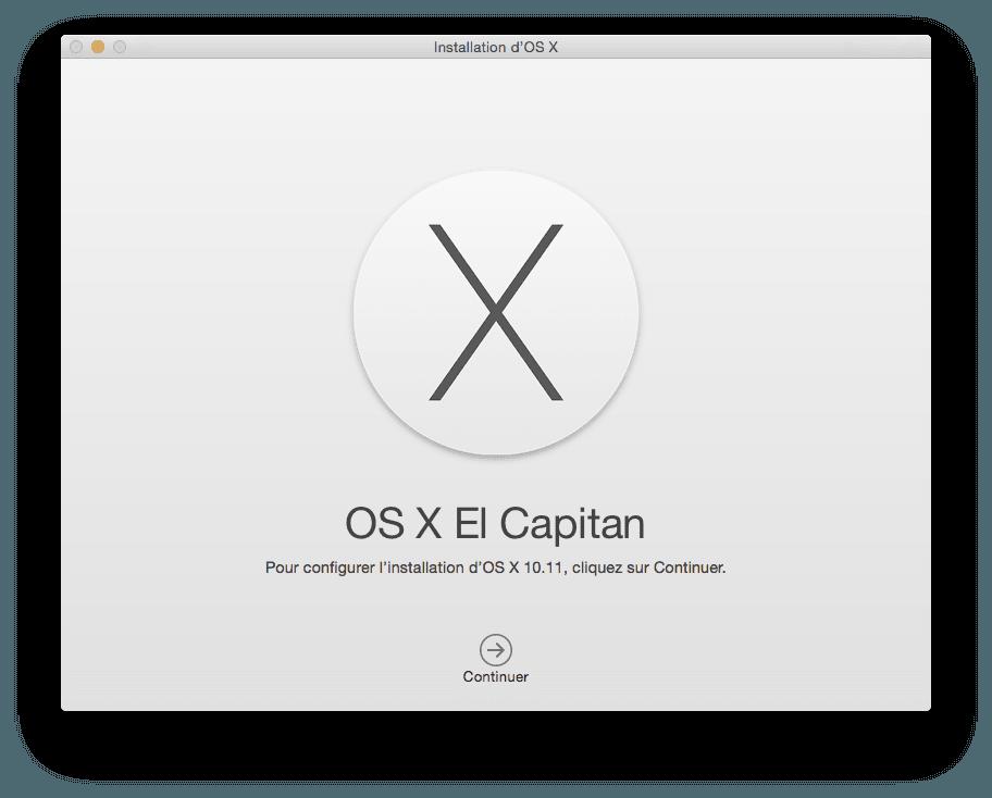 Mac OS X El Capitan configuration necessaire