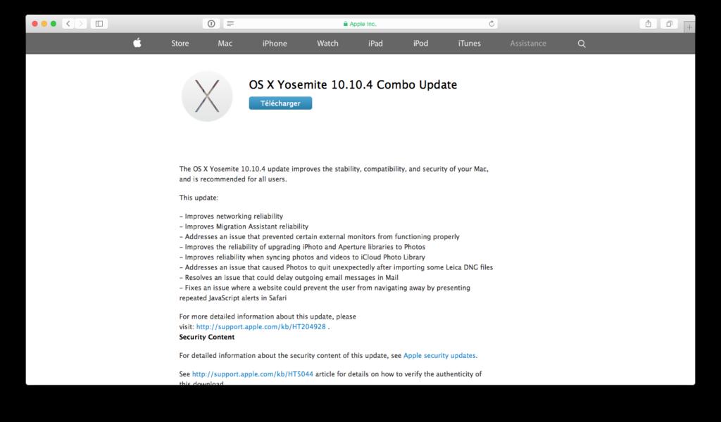 app store combo os x yosemite 10.10.4