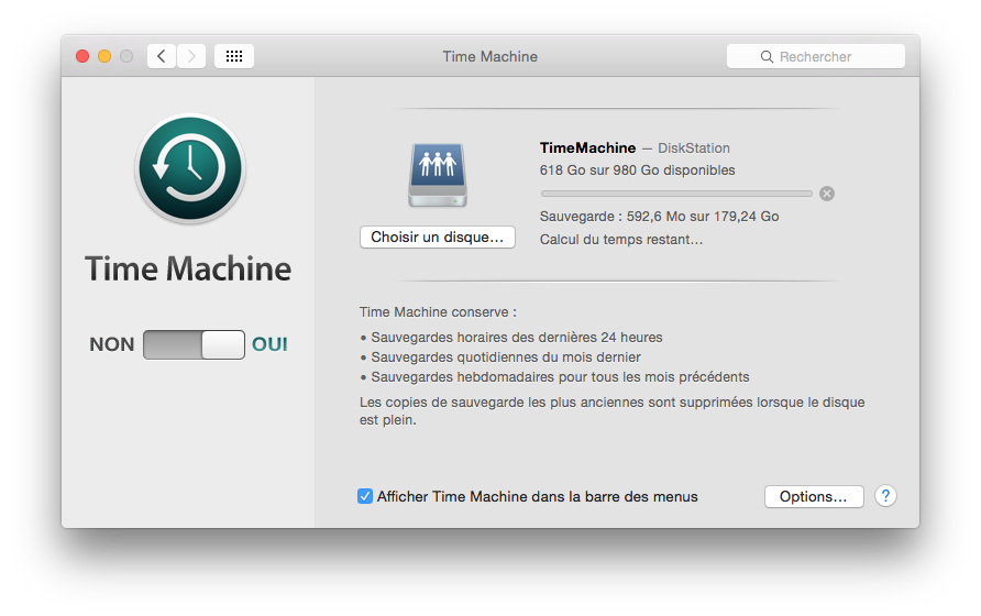 downgrader OS X El Capitan sauvegarde time machine yosemite