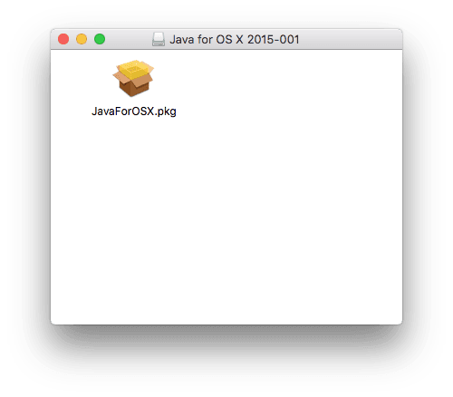 Java El Capitan pkg