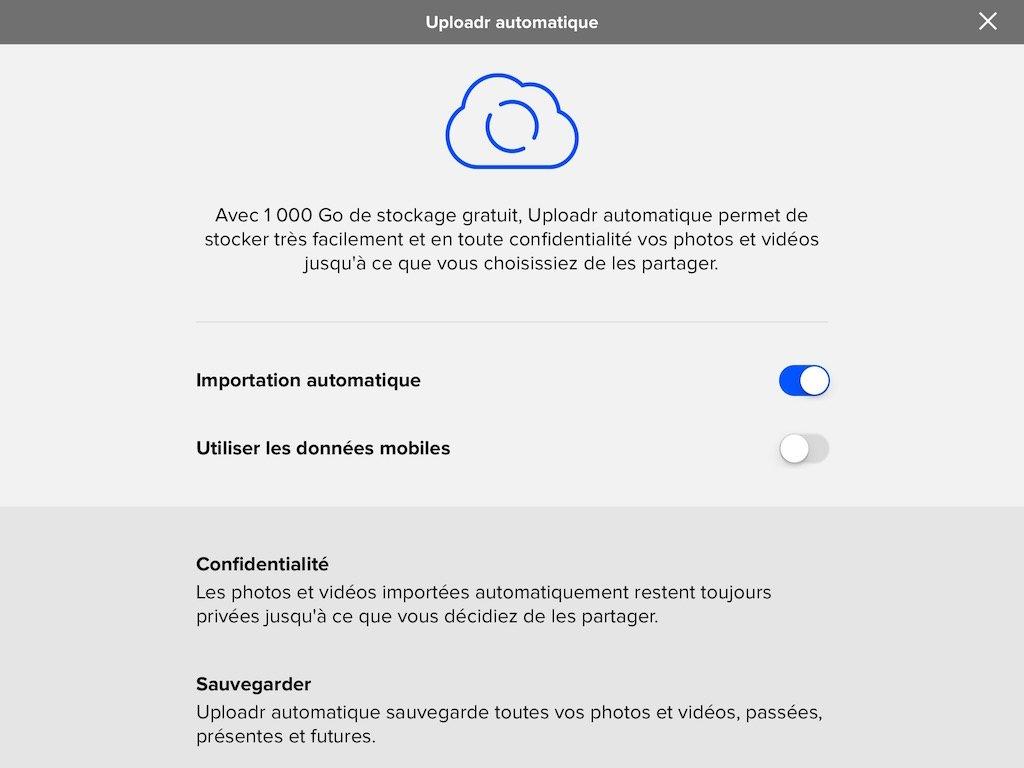 icloud flickr uploader automatique